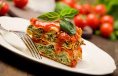 Spinach can be used in many dishes, like lasagna.