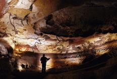 The caves at Lascaux are filled with paintings that were produced by early Homo sapiens.