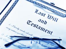 A probate lawyer executes a person's last will.
