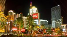 Las Vegas is famous for outdoor media advertising, particularly signs for casinos on the Strip.