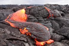 Molten rock that erupts from a volcano in liquid form is known as lava.