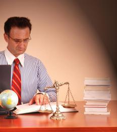 An international lawyer advises clients about issues relating to international law.