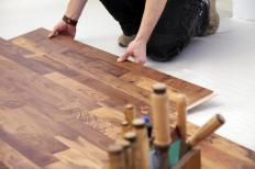 Wood flooring specialists sometimes specialize in speedy installation.