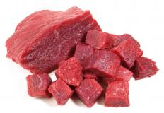 Dried beef is made from thinly cut lean beef.