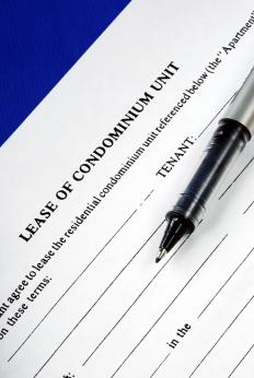 A condo lease agreement.