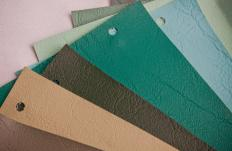 Fabric swatches can assist with finding the right color.