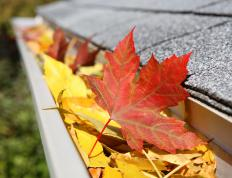 Gutter mesh helps block leaves from clogging gutters.