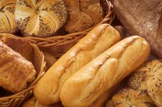 Loaves of bread are shaped by the style of pan used to bake them.