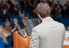 Public speakers may experience performance anxiety.