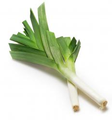 Leeks are cooked to sweeten their flavor in a leek dip.