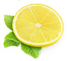 Bartenders use muddlers to mash lemon and mint against the side of a glass.