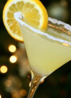 A lemon drop martini is very sweet and slightly sour.