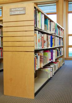 Books categorized using the Dewey Decimal System, which is a type of information architecture.