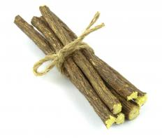 Licorice root is used as an herbal treatment for hot flashes.