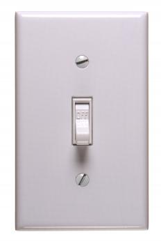 A light switch.