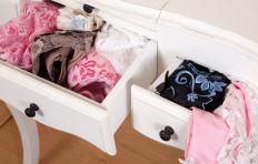The lingerie chest is typically tall and narrow with about six drawers.