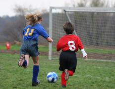 Soccer players may be susceptible to ankle injuries.