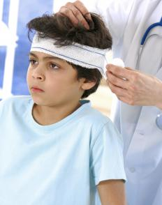 Tissue expanders may be used for repairing damage to the scalp.