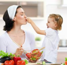 Family meals are a good way to encourage healthy eating habits.