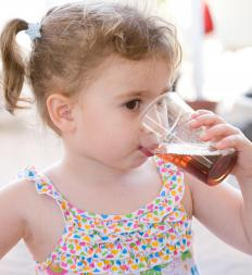 Azithromycin may be available in powder form to be mixed in a drink for children.