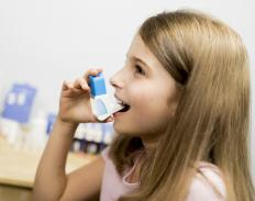 Prednisone may be prescribed to treat asthma.