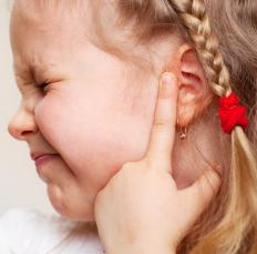 Children sometimes have earaches or ear infections.