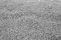 Gravel may be used in paving a stone driveway.
