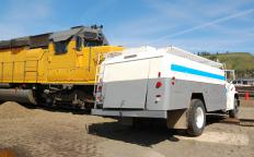 The event recorder on a locomotive is designed to record physical data and command inputs during a collision, derailment, or other type of accident.