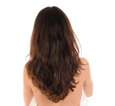 A V haircut has long layers in the back and short layers in the front.