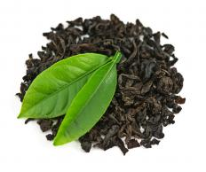 Loose-leaf black tea.