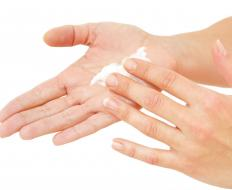 Using lotion can help with peeling hands.