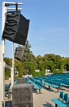 Different types of loudspeakers work together to produce all of the sounds required.