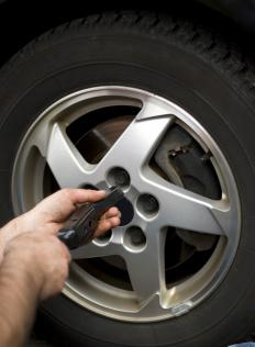 A wheel lock is an anti-theft lug nut.