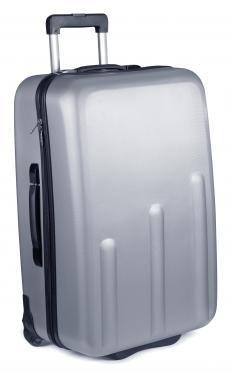 A sturdy suitcase with wheels may be a good choice for those planning on checking luggage.