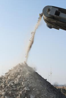Crushed rock is used for a variety of purposes, such as for making gravel or concrete mix.