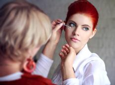 Makeup artists may offer makeovers at upscale department stores.
