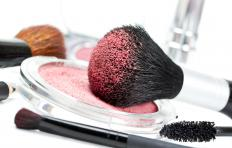 A blush's appearance on skin may be affected by the applicator brush.