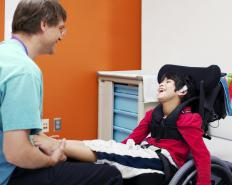 A recreational therapist works with clients who have physical or mental disabilities.
