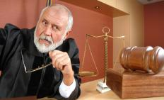 Judicial proceedings take place in front of a judge.