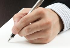 Forensic document examiners must be able to tell the difference between two people's handwriting.