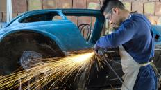 Welding is usually required when building a hot rod chassis.