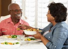 Eating healthily may help reduce a person's chance of developing atheroma.