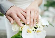 Wedding rings tend to be less flashy and more personally symbolic than engagement rings.