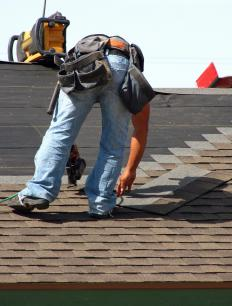 Some roofing materials, such as asphalt shingles, can act as vapor barriers.