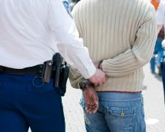 A criminal arrest occurs after someone has been formally accused, but before he is found guilty.