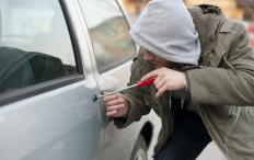 A felony background check would indicate if a person was found guilt of grand larceny, such as stealing a car.