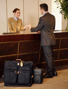 A hotel clerk is a well-known courtesy clerk job.