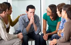 Group therapy allows people with similar issues to interact.