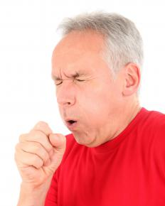 A rattling cough is accompanied by troublesome chest or throat sounds.