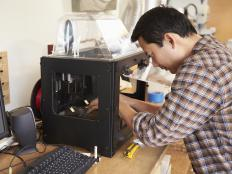 Some prototypes are designed three-dimensionally using computer software and then created with a 3D printer.